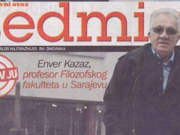 """""""Avazov"""" analitičar Kazaz: Radončić je rasista i lopov, ucjenjivač i totalitarist, od Srebrenice radi jeftini politički gaf"""