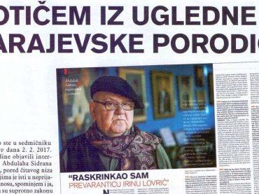 Vijeće za štampu odbilo žalbu Irine Lovrić povodom intervjua Abdulaha Sidrana u Stavu