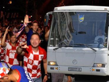 ČAPLJINA: Hrvatski navijači napali autobus Oružanih snaga BiH koji se vraćao iz Srebrenice