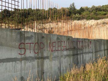 U Hrvatskoj osvanuli grafiti protiv gradnje Pelješkog mosta