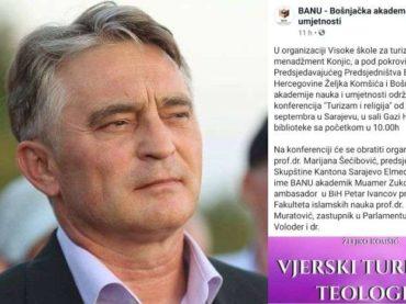 DEMANTIJ: Komšić nije dao pokroviteljstvo konferenciji na kojoj govori Zukorlić