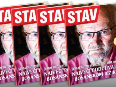 NOVI STAV: Najveći poduhvat u bosanskom jeziku