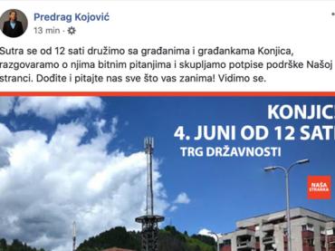 Našoj Stranci smeta ime Alije Izetbegovića